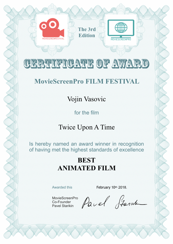 Best Animated Film Certificate_MSCPFF